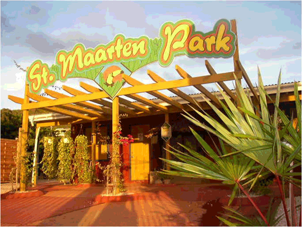 St Maarten Zoo entrance revitalised with a lot of colours.