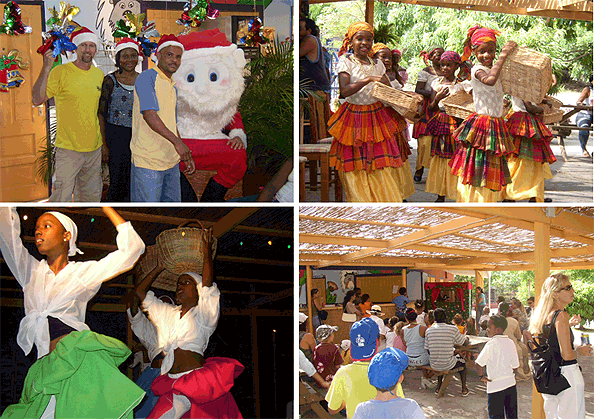 Father Christmas, Creole dancers and a puppet show.