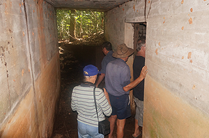 Inspecting the WWII Concrete Bunker