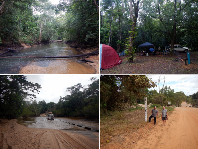 Rainsforest, floods and camping near the Archer River Road house