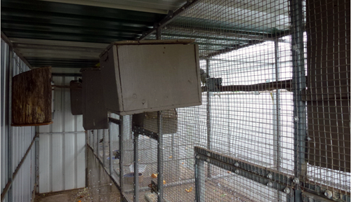 Suspended aviaries