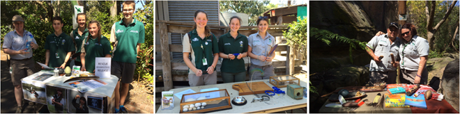 "Taronga's touch tables looked after by YATZ's kids (""Youth at the Zoo"")"